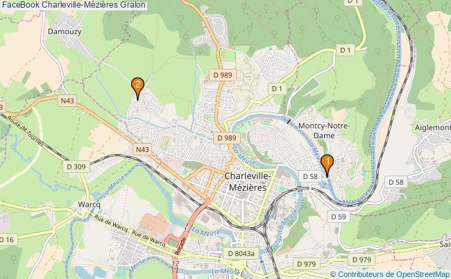 plan FaceBook Charleville-Mézières Associations FaceBook Charleville-Mézières : 2 associations