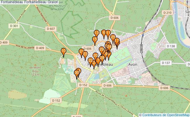 plan Fontainebleau Fontainebleau Associations Fontainebleau Fontainebleau : 127 associations