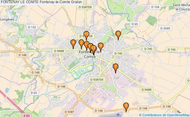 plan FONTENAY LE COMTE Fontenay-le-Comte Associations FONTENAY LE COMTE Fontenay-le-Comte : 13 associations