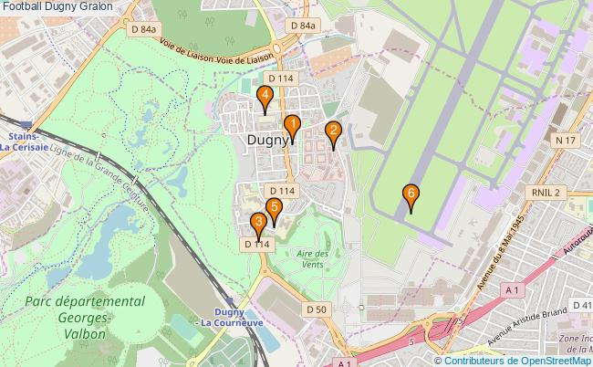 plan Football Dugny Associations football Dugny : 7 associations