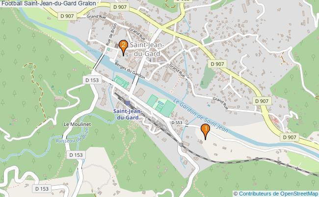 plan Football Saint-Jean-du-Gard Associations football Saint-Jean-du-Gard : 2 associations