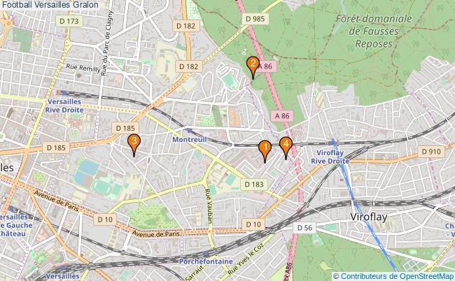 plan Football Versailles Associations football Versailles : 5 associations