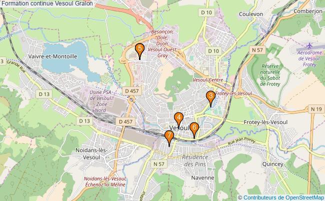 plan Formation continue Vesoul Associations formation continue Vesoul : 7 associations