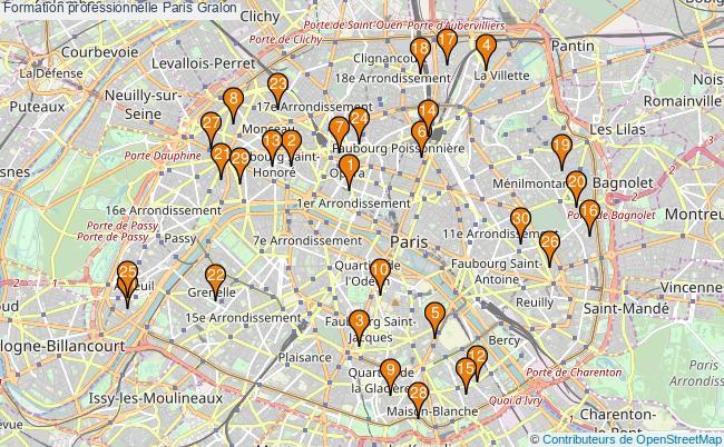 plan Formation professionnelle Paris Associations formation professionnelle Paris : 537 associations