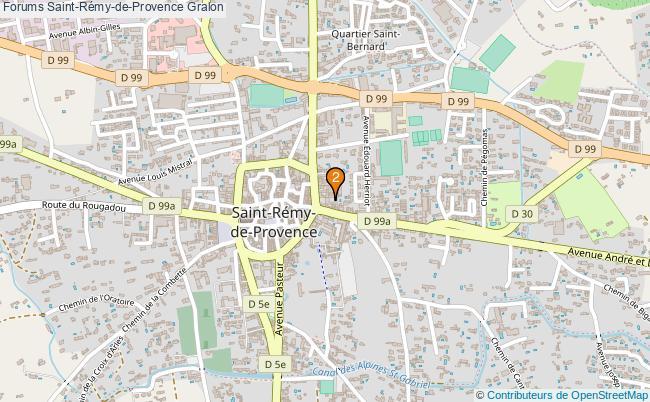 plan Forums Saint-Rémy-de-Provence Associations forums Saint-Rémy-de-Provence : 2 associations