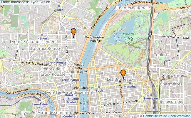 plan Franc-maçonnerie Lyon Associations franc-maçonnerie Lyon : 2 associations