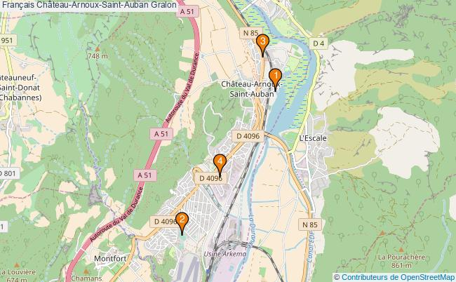 plan Français Château-Arnoux-Saint-Auban Associations français Château-Arnoux-Saint-Auban : 4 associations