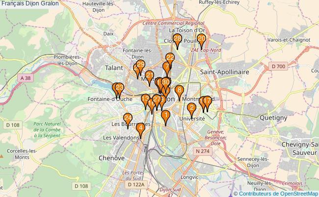 plan Français Dijon Associations français Dijon : 58 associations