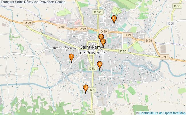 plan Français Saint-Rémy-de-Provence Associations français Saint-Rémy-de-Provence : 6 associations