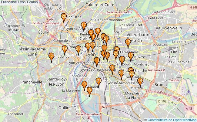 plan Française Lyon Associations française Lyon : 158 associations