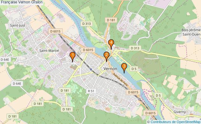 plan Française Vernon Associations française Vernon : 5 associations