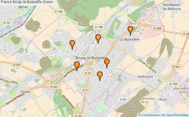 plan France Bruay-la-Buissière Associations France Bruay-la-Buissière : 7 associations