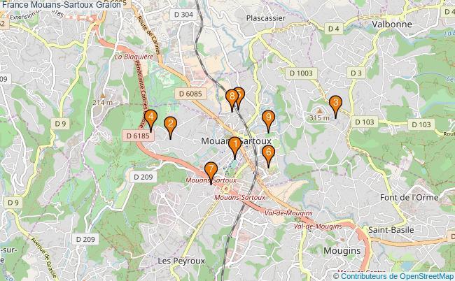 plan France Mouans-Sartoux Associations France Mouans-Sartoux : 9 associations