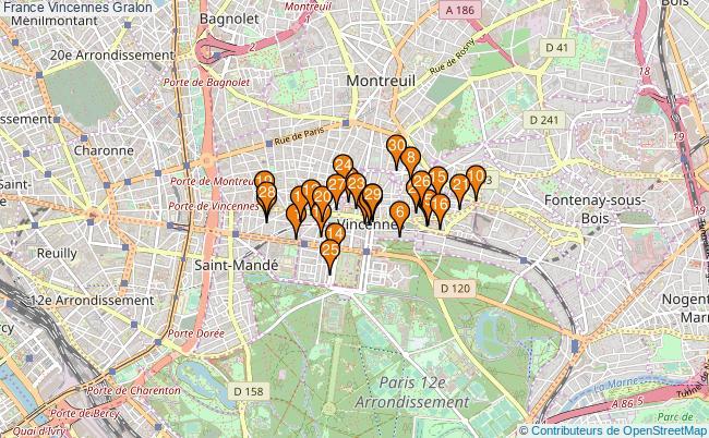 plan France Vincennes Associations France Vincennes : 94 associations