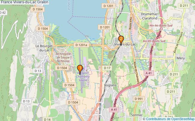 plan France Viviers-du-Lac Associations France Viviers-du-Lac : 2 associations