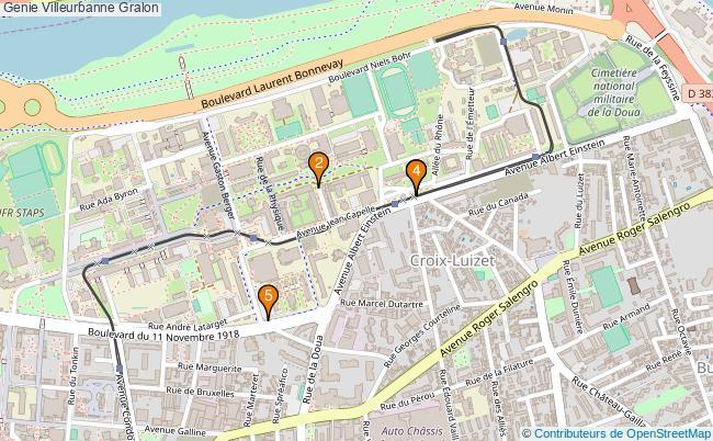 plan Genie Villeurbanne Associations genie Villeurbanne : 6 associations