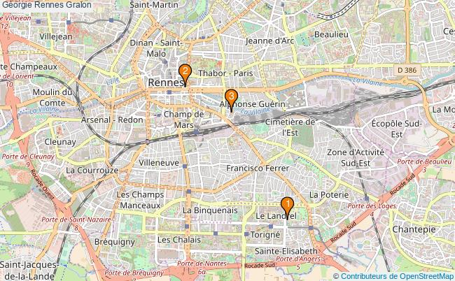 plan Géorgie Rennes Associations Géorgie Rennes : 3 associations