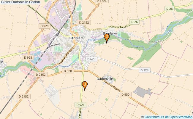 plan Gibier Dadonville Associations gibier Dadonville : 3 associations
