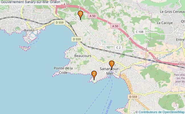 plan Gouvernement Sanary-sur-Mer Associations gouvernement Sanary-sur-Mer : 3 associations