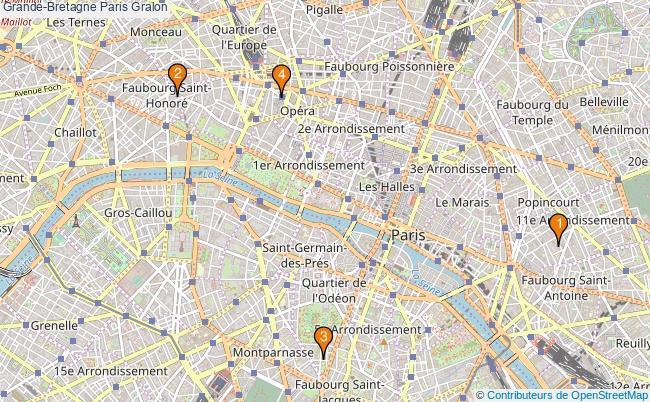 plan Grande-Bretagne Paris Associations Grande-Bretagne Paris : 5 associations