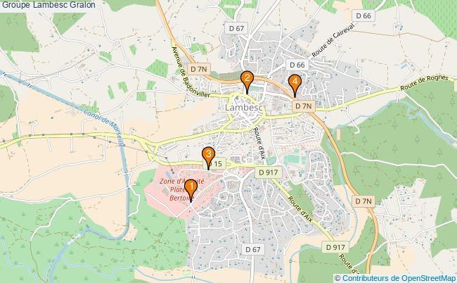 plan Groupe Lambesc Associations groupe Lambesc : 4 associations