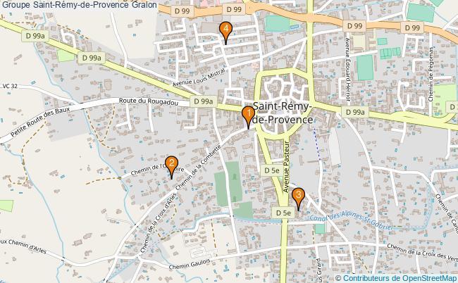 plan Groupe Saint-Rémy-de-Provence Associations groupe Saint-Rémy-de-Provence : 4 associations