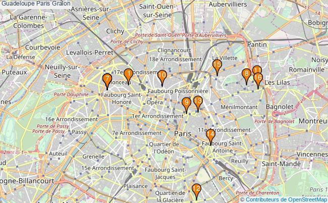 plan Guadeloupe Paris Associations Guadeloupe Paris : 16 associations