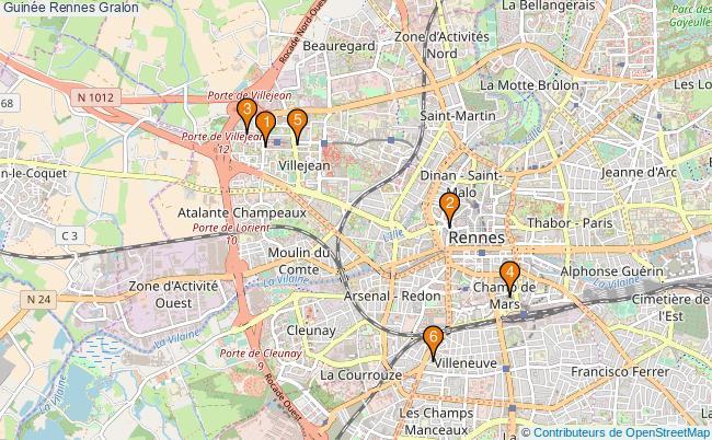 plan Guinée Rennes Associations Guinée Rennes : 7 associations