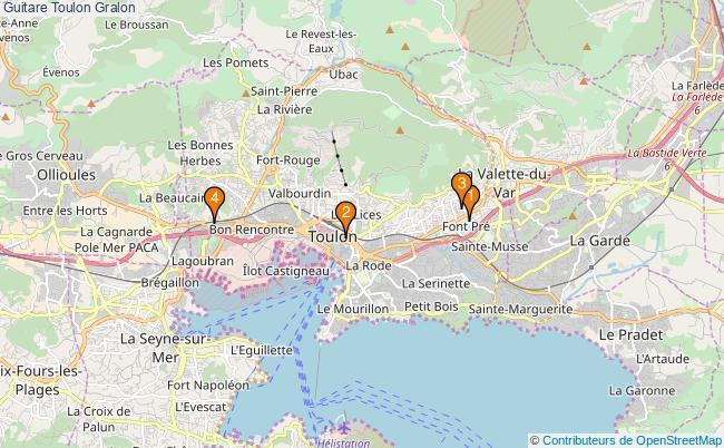 plan Guitare Toulon Associations guitare Toulon : 4 associations