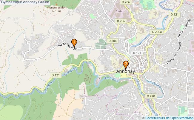 plan Gymnastique Annonay Associations gymnastique Annonay : 2 associations