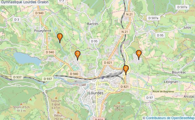 plan Gymnastique Lourdes Associations gymnastique Lourdes : 4 associations