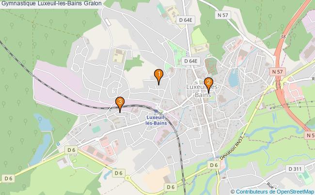 plan Gymnastique Luxeuil-les-Bains Associations gymnastique Luxeuil-les-Bains : 3 associations