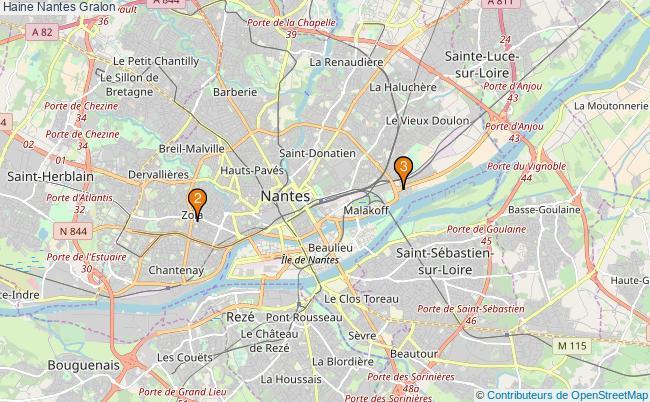 plan Haine Nantes Associations Haine Nantes : 3 associations