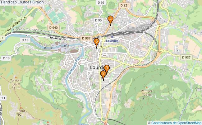 plan Handicap Lourdes Associations Handicap Lourdes : 7 associations