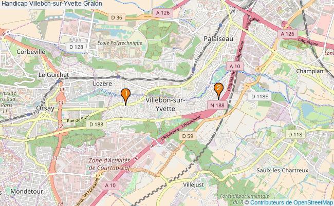 plan Handicap Villebon-sur-Yvette Associations Handicap Villebon-sur-Yvette : 2 associations