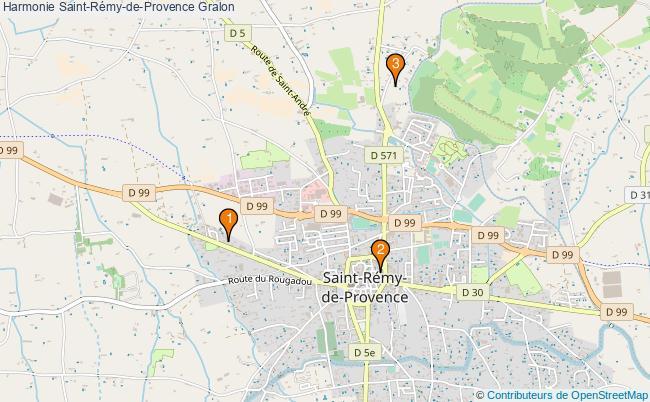 plan Harmonie Saint-Rémy-de-Provence Associations harmonie Saint-Rémy-de-Provence : 3 associations