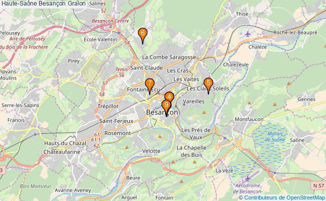 plan Haute-Saône Besançon Associations Haute-Saône Besançon : 10 associations
