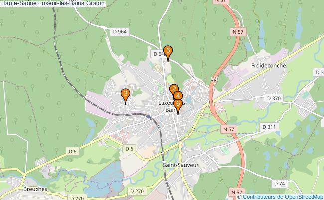 plan Haute-Saône Luxeuil-les-Bains Associations Haute-Saône Luxeuil-les-Bains : 6 associations