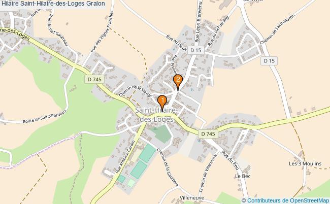 plan Hilaire Saint-Hilaire-des-Loges Associations Hilaire Saint-Hilaire-des-Loges : 2 associations