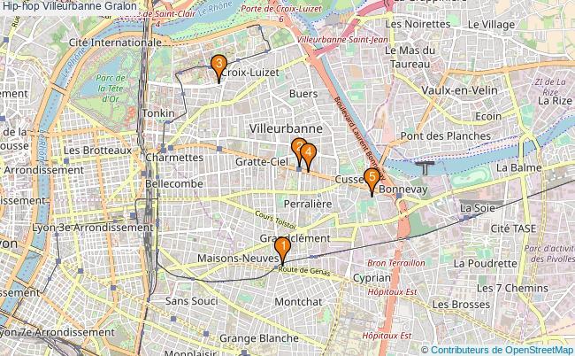 plan Hip-hop Villeurbanne Associations Hip-hop Villeurbanne : 5 associations