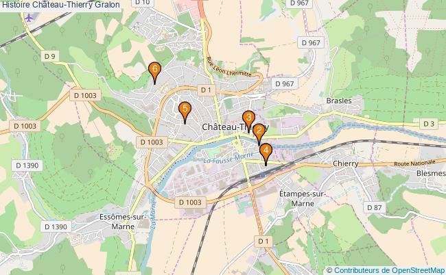 plan Histoire Château-Thierry Associations histoire Château-Thierry : 6 associations