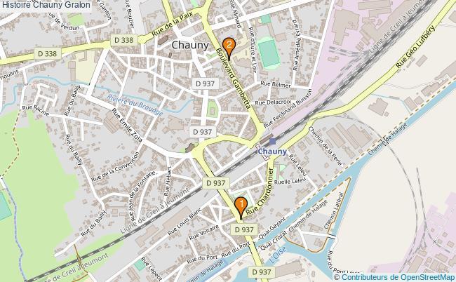 plan Histoire Chauny Associations histoire Chauny : 2 associations