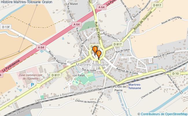 plan Histoire Martres-Tolosane Associations histoire Martres-Tolosane : 2 associations