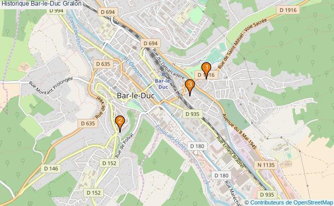plan Historique Bar-le-Duc Associations historique Bar-le-Duc : 3 associations