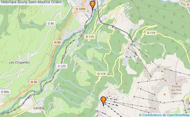plan Historique Bourg-Saint-Maurice Associations historique Bourg-Saint-Maurice : 2 associations