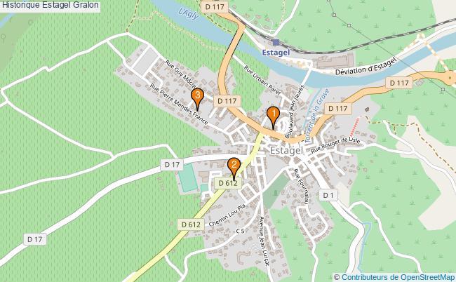 plan Historique Estagel Associations historique Estagel : 2 associations