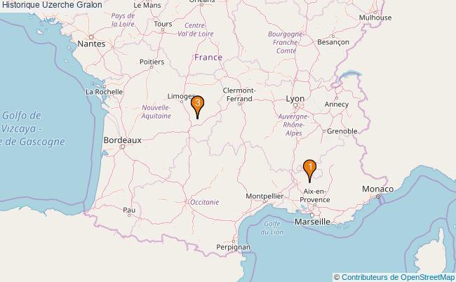 plan Historique Uzerche Associations historique Uzerche : 3 associations