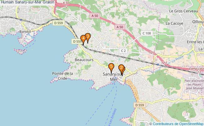 plan Humain Sanary-sur-Mer Associations Humain Sanary-sur-Mer : 5 associations
