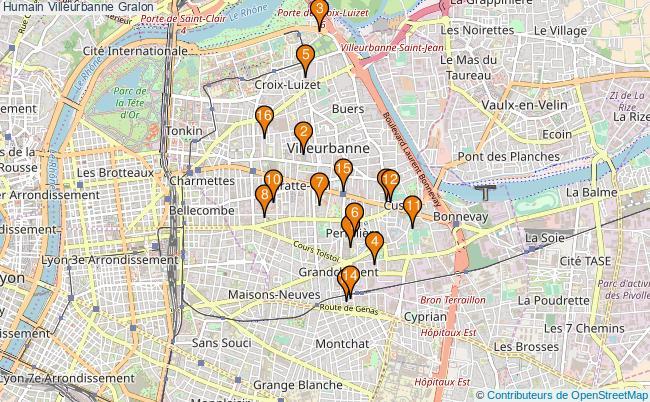 plan Humain Villeurbanne Associations Humain Villeurbanne : 17 associations