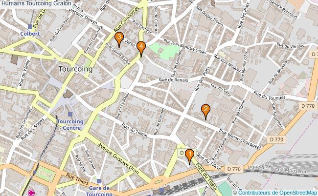 plan Humains Tourcoing Associations Humains Tourcoing : 4 associations